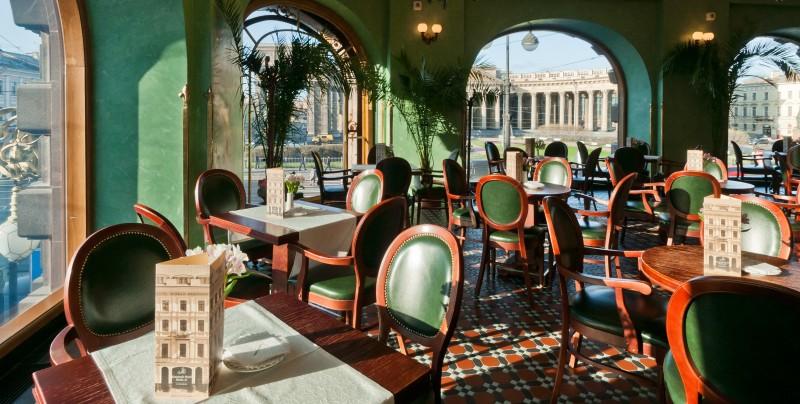 Cafe singer St Petersbourg